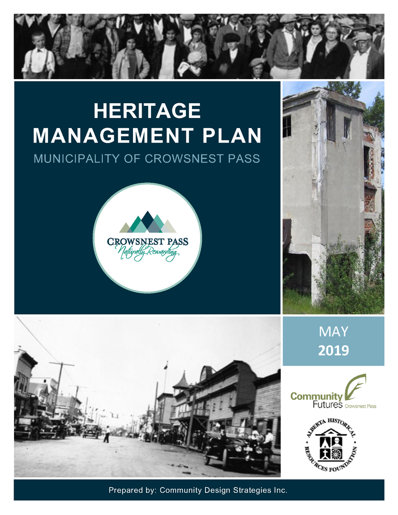 Click on image to download PDF version of the Heritage Management Plan